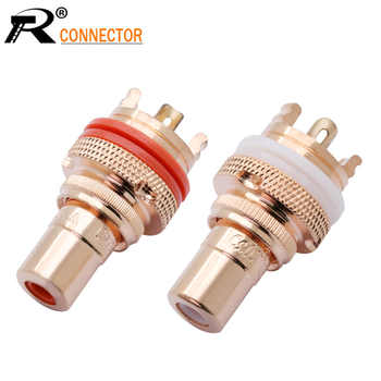 20Pcs/10Pairs Copper CMC RCA Female Terminal Jack Socket AV Audio Video Connector High Quality - DISCOUNT ITEM  35 OFF Lights & Lighting
