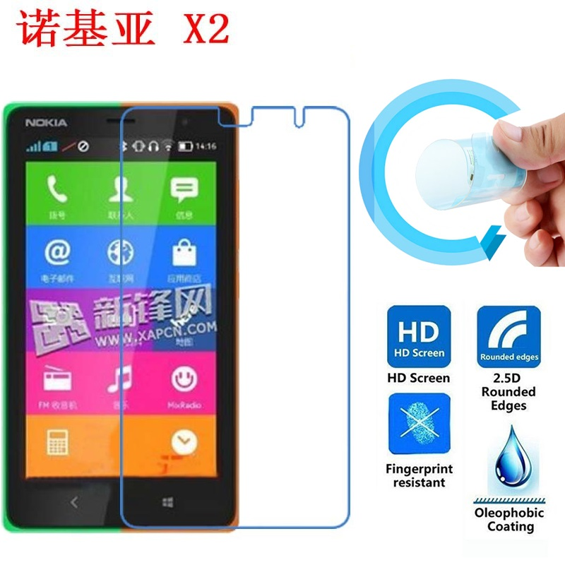 Nokia X2 Scratch Proof Screen Film, 2.5D Ultra-Thin HD Clear Soft Pet Screen Protector Film for Nokia X2 Nokia X 2 Dual Sim