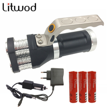 z30 LED flashlight 3 PCS XM-L T6 beads Rechargeable Portable Light Hand Lamp 12000LM 3 model which choose  batteries and charger