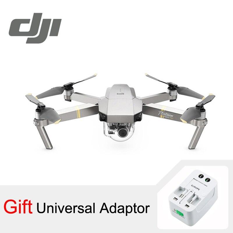 DJI Мавик Pro Platinum Камера Drone 30 минут полета 1080 P с 4k-видео Вертолет FPV квадрокоптера DJI оригинальный
