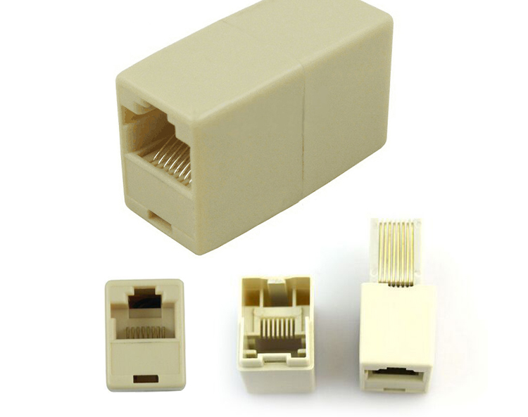 High Quality Sheet 10 On A Lan Rj45 Coupler Extending Connector Adapter Cable Rated 4 9