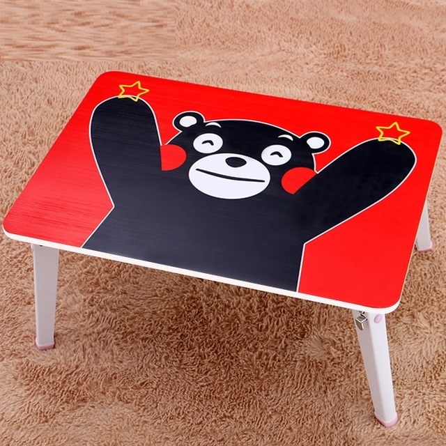 Qi Yi notebook comter on bed with foldable simple dormitory artifact lazy desk Xiongben bear learning table FREE SHIPPING
