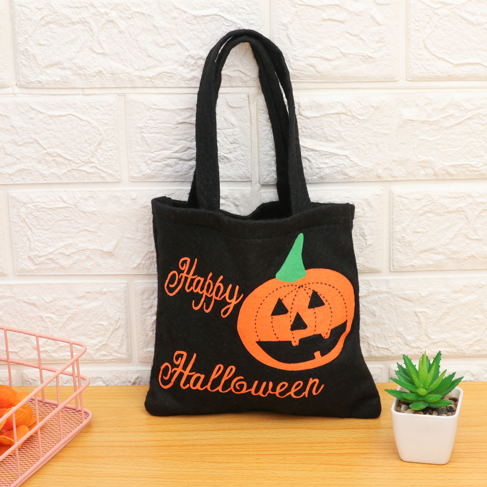 1PC Halloween Decoration Festival Supplies Non-Woven Fabric Pumpkin Candy Gift Bag Kids Children Party Trick Or Treat(China)