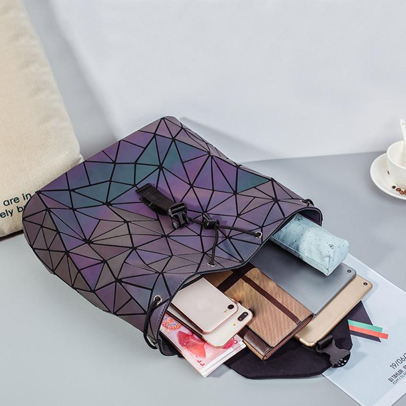 HTB1V147awmH3KVjSZKzq6z2OXXaN Bao Women Backpack Luminous Drawstring Female Daily Backpack Geometry Backpacks Folding School Bags For Teenage Girls Mochila