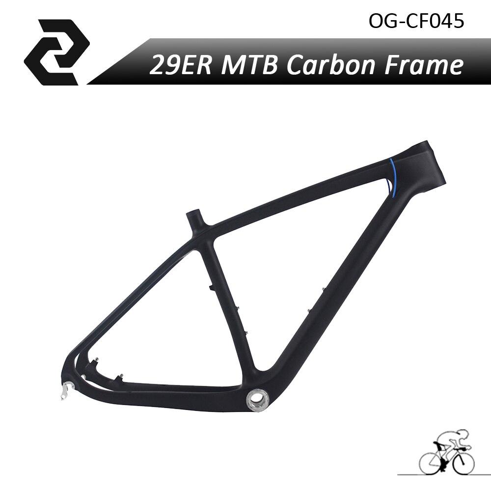Hot sale! ! new model 29ER MTB carbon frame UD matt size 15.5/17.5/19 with BSA Wheel size 29er
