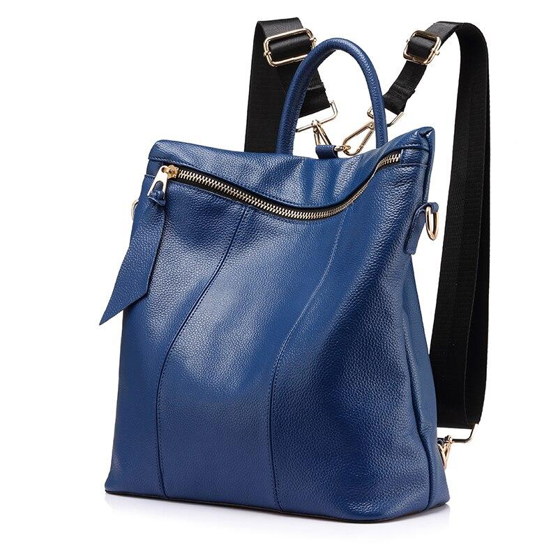 LOVEVOOK genuine leather women backpack large travel backpack school backpack for girls shoulder crossbody bags ladies