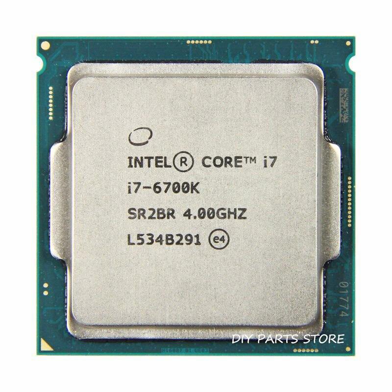 Processeur Intel core Quad-core I7-6700K I7 6700K I7 LGA 1151 4.40GHz 6M niveau 8M RAM DDR3L-1333, DDR3L-1600 DDR4 GPU HD530