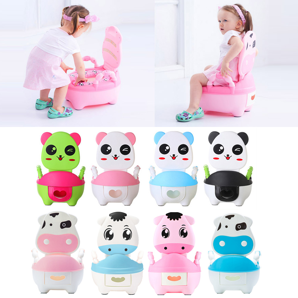 Soft Baby Potty Toilet Training Seat Portable Plastic Infant Potty Trainer Kids Indoor WC Baby Potty Chair Plastic Children Pot