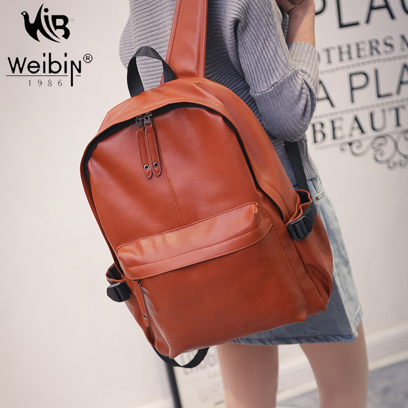 New Designer Backpacks For Teenagers Girl Waterproof School Bag PU leather Women Shoulder Bag Black Back Pack  Mochila sac a dos new arrival women pu leather backpacks female school bags for teenagers simple couple shoulder bag string bag mochila feminina