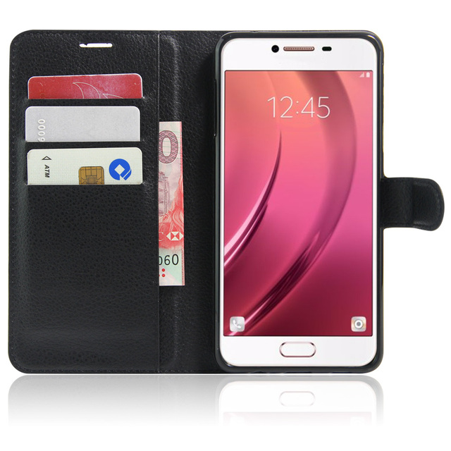 Wallet Cover Card Holder Phone Cases for Samsung Galaxy C7 C7 Pro C7Pro Pu Leather Case Protective Shell