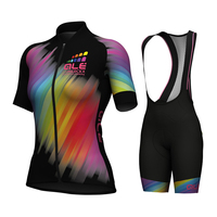 2017 New Pattern Womens ALE Cycling Jerseys Road Bike Wear Bicycle Clothing Ropa Wholesale Retail Maillot