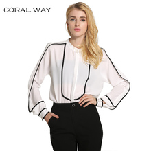 Women Blouses CLARISBLLE 2017 Spring Autumn Fashion Office Bluses Mujer Top Solid Long Sleeve Casual  Women Shirts  BLYA77