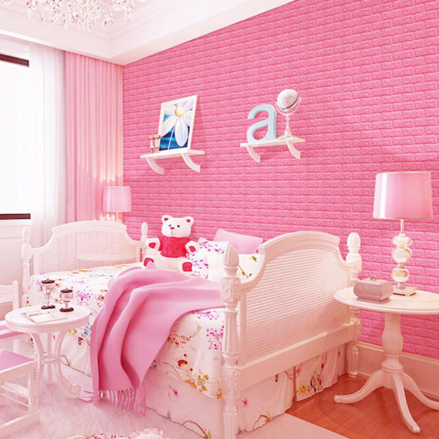 4 Colors 3D Brick Design Self adhesive Wallpaper Vinyl Wall Covering ...