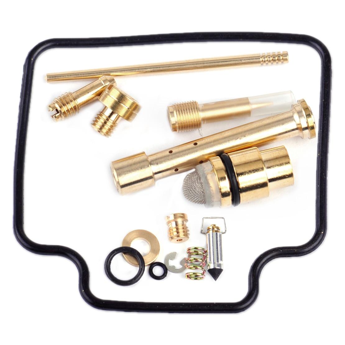 Dwcx 14pcs stable metal rubber carburetor carb rebuild repair kit for suzuki quadrunner 500 ltf500f 1998 1999 2000 2001 2002