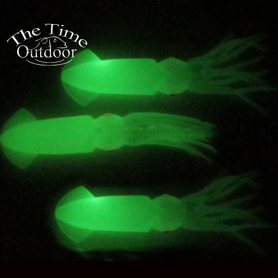 Fishing bait fishing soft lure octopus squid bodies for Glow in the dark fishing lures