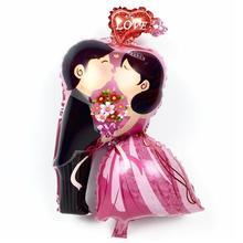 Wedding Ballon Bride Bridegroom Engagement Decoration Kiss Heart 50pcs/lot Valentine Home Accessories Globos Supplies