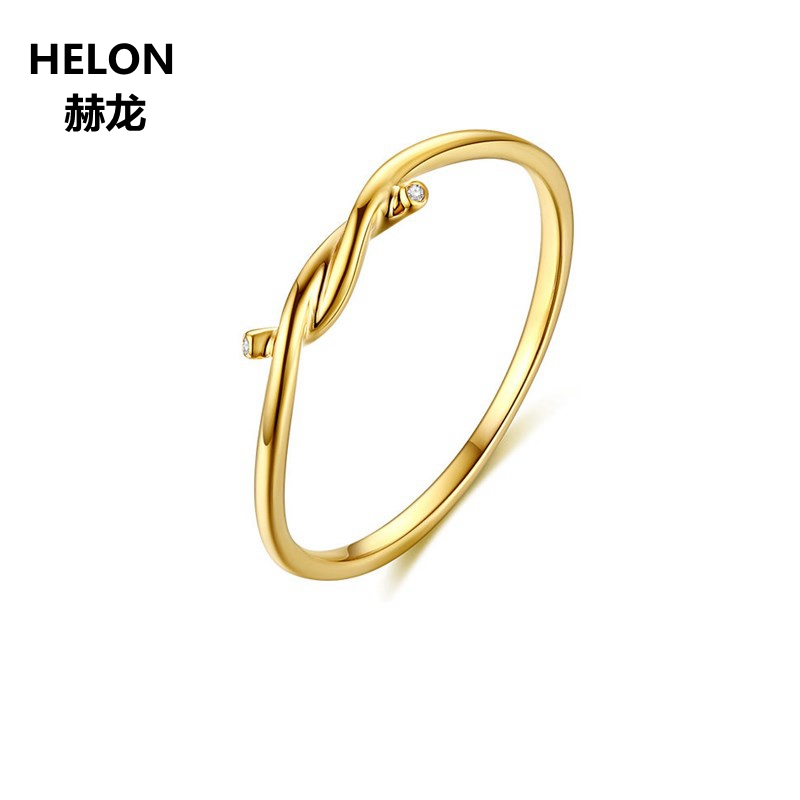 0.01ct SI/H Natural Diamonds Engagement Ring for Women Solid 14k Yellow Gold Anniversary Wedding Band Fine Jewelry Gift vintage solid 14kt yellow gold natural diamond two engagement wedding band ring for women fine jewelry anniversary gift r0014