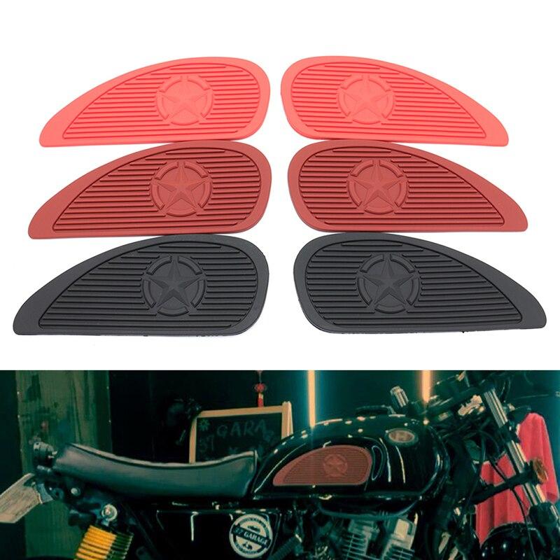 1 Paar Motorcycle Rubber Gas Olie Tank Knie Pads Universele Brandstof Tanks Tractie Decals Stickers Zijpanelen Een Unieke Nationale Stijl Hebben