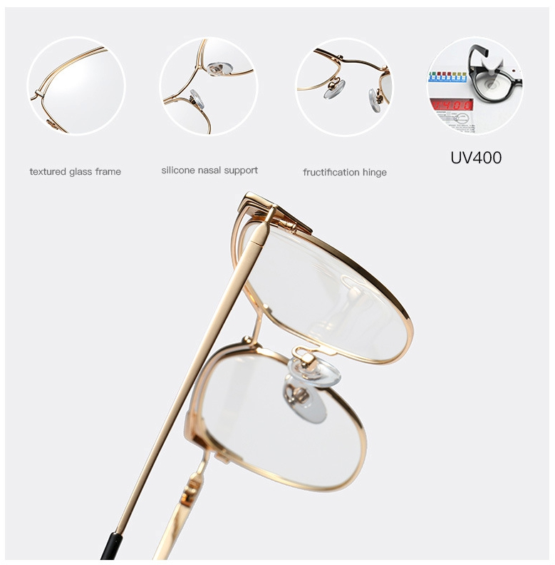 Cat Ear Simple Metal Glasses Frames