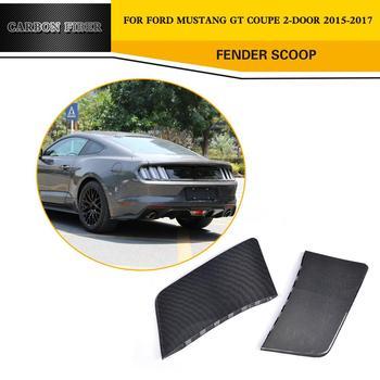 2 adet/takım Karbon Fiber Yarış Arka Yan Çamurluk Dekoratif Kepçe Koruma Ford Mustang Coupe 2-Door 2015- 2017