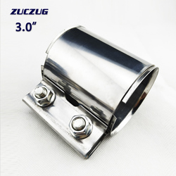 3.0 Inch 77*87mm Muffler    Exhaust Pipe Clamp Connector Sleeve Joiner