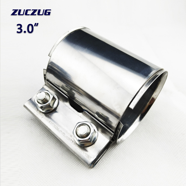 3.0 inch 77*87mm Muffler clamp Clamp On Exhaust Pipe Clamp Exhaust Muffler Pipe Clamp Exhaust Pipe Connector Sleeve Joiner