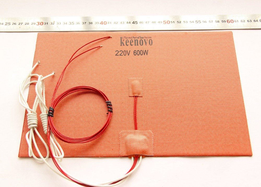 200mm X 300mm 600W w NTC 100K Thermistor Keenovo Silicone Heater 3D Printer Heatbed First Grade