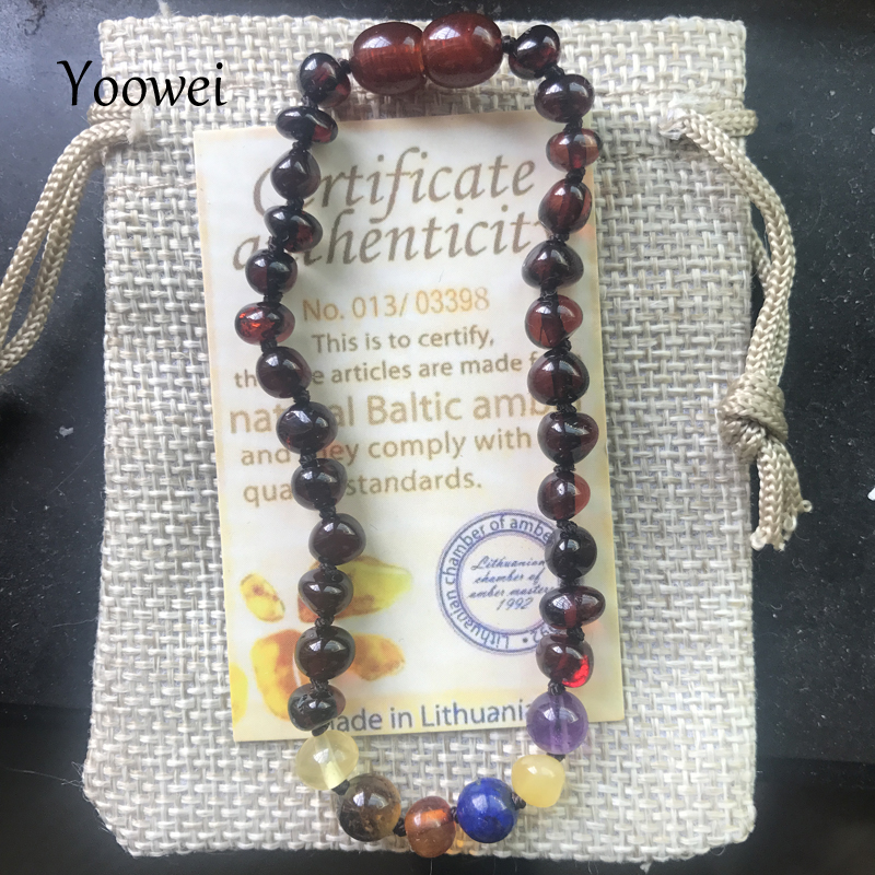 Yoowei 11 Designs Genuine Amber Bracelet/Necklace Natural Gems Baltic Real Jewelry Adult Baby Teething Amber Necklace Wholesale