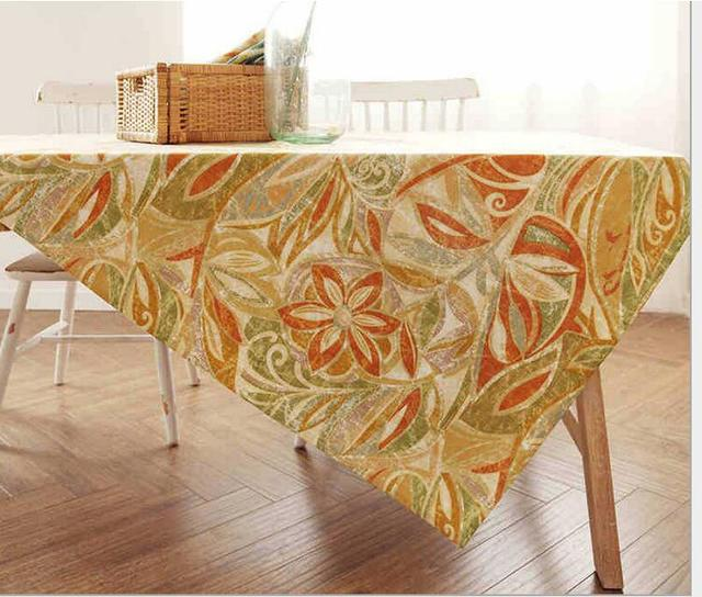 American Country Style Bamboo Joint Cotton Tablecloth Cover For Party Home  Table Cloth Textile Decoration 6