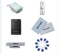 Kit di controllo accessi  standalone access control + alimentazione + sciopero serratura + tasto di uscita + 2 pz gestire carta  10 keyfob tag ID  sn: set -in Kit per controllo accesso da Sicurezza e protezione su