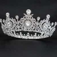 Echt Österreichischen Kristall Strass Blume Tiaras und Krone Diadem frauen Prom Hochzeit Haar Zubehör Schmuck SHA8641