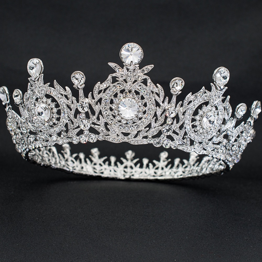 Real Austrian Crystal Rhinestone Flower Tiaras and Crown Diadem Women's Prom Wedding Wedding Accessories Smycken SHA8641