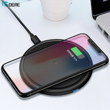 DCAE Qi Wireless Charger for iPhone X 8 Fast Wireless Charging for Samsung Galaxy S9 S8 S7 S6 Edge Xiaomi Mix 2s USB Charger Pad
