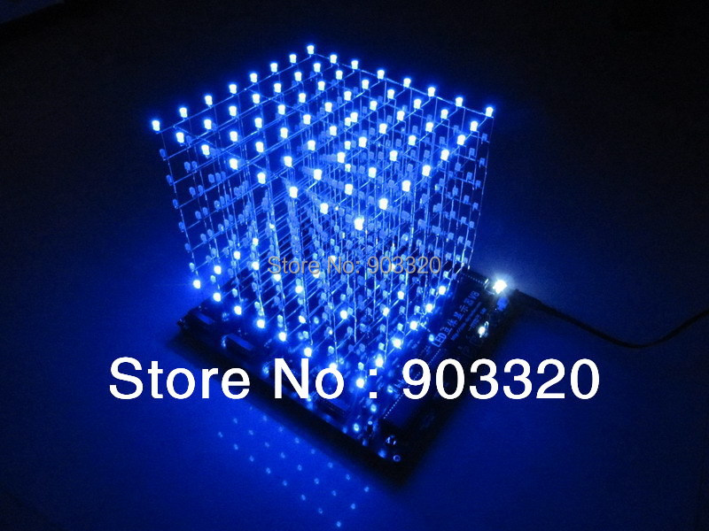 Generous 3d 8s Led Light Cube With Animation Effects /3d Cube 8 8x8x8 3d Led /kits/junior,3d Led Display,christmas Gift Professional Lighting