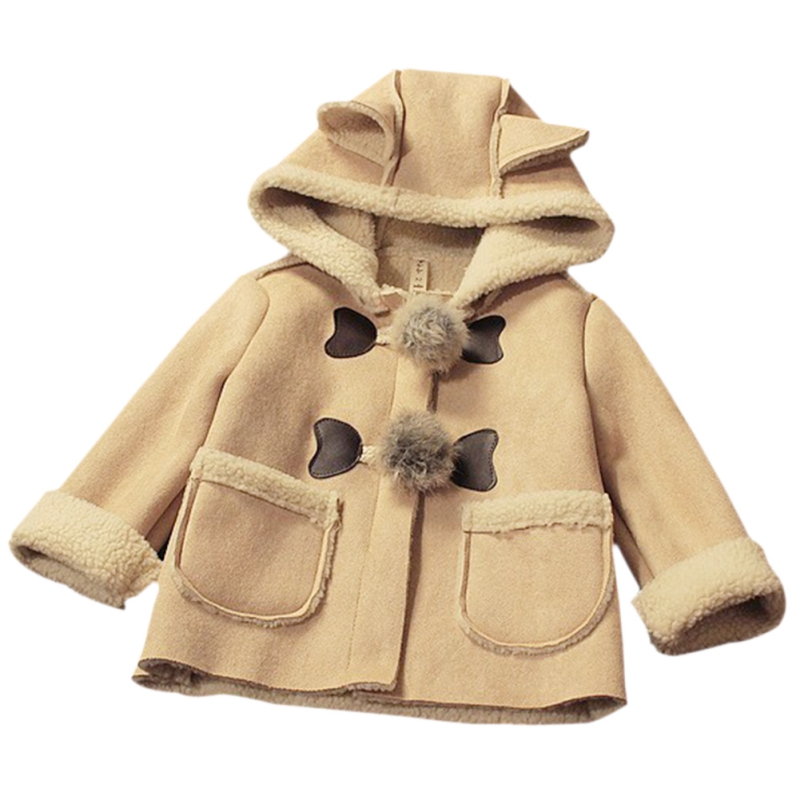 2017 Baby Girls Christmas Winter Thickening Overcoat Children Outerwear Kids Warm Outfits Cotton Coats 2-5Y children winter coats jacket baby boys warm outerwear thickening outdoors kids snow proof coat parkas cotton padded clothes