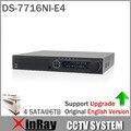 Caixa de Cor Original DS-7716NI-E4 Rede 16CH NVR para Câmera IP HD Gravador de Vídeo em Rede 4 SATA para HDD
