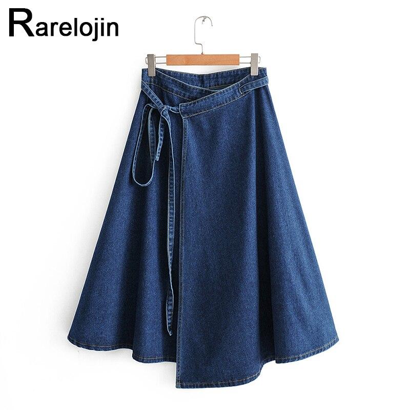 Spring Autumn Skirt 2019 New Women Fashion Skirt High Waist Women Skirt Wild Denim Skirt Femme Midi Skirt Women Skirt Clothes