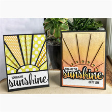 Background Panel Letter Sunshine Metal Cutting Dies Clear Stamps for Craft Scrapbooking Album Embossing New 2019