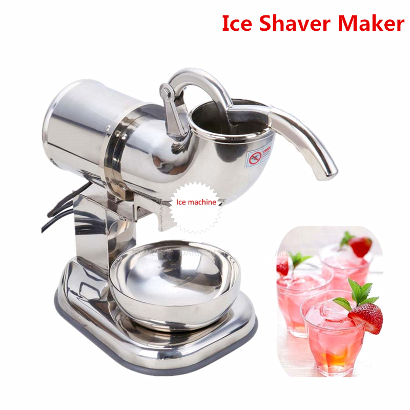 Home Use 110V 220V Fully Stainless Steel Snow Cone Machine, Ice Shaver Maker, Ice Crusher Maker, Ice Cream Machine цены
