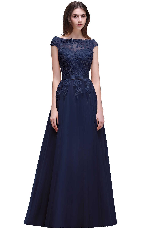 Vestido Madrinha Elegan Burgundy Lace Bridesmaid Gaun Sifon Panjang Pesta Pernikahan Gaun Jubah Demoiselle D'honneur