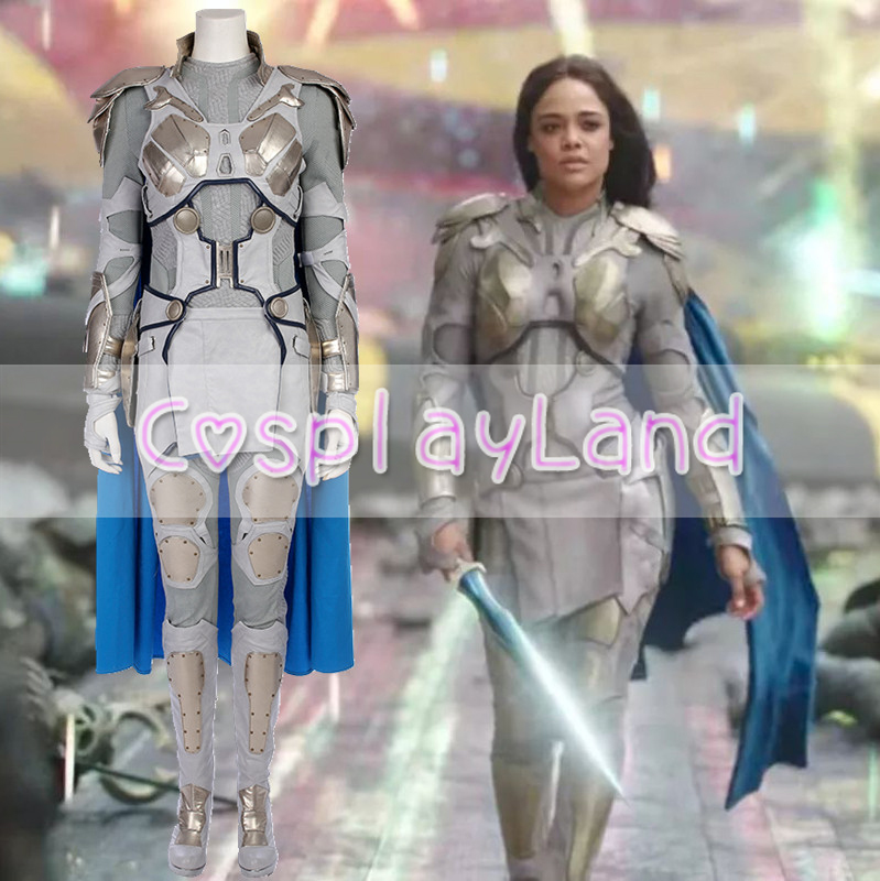 Thor Ragnarok Valkyrie Leather Full Set Adult Outfits Halloween Cosplay Costume
