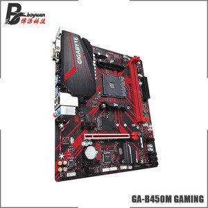 Image 4 - جيجا بايت غا B450M الألعاب (rev. 1.0) AMD B450 /2 DDR4 DIMM /M.2 /USB3.1 /Micro ATX/جديد/Max 32G مزدوج قناة AM4 اللوحة الأم