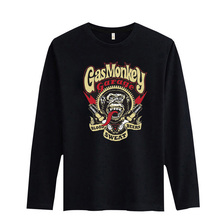 New Gas Monkey Funny Mens Long Sleeve tshirts Hip Hop with T Shirt Men Famous Brand in 3xl xxl Soft Cotton Tees and Tops