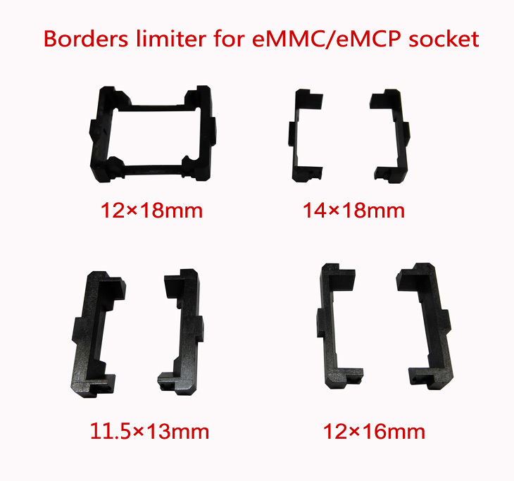 EMMC/eMCP Test Socket Borders Limiter,11.5*13mm,12*16mm,12*18mm,14*18mm,frame Guider,for Open Top And Clamshell Structure Socket