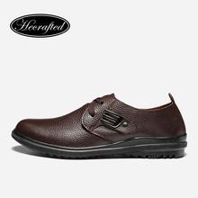 Size 37~47 Full Grain Leather Shoes Men Classic Simple Style Men Leather Flats Shoes #2928