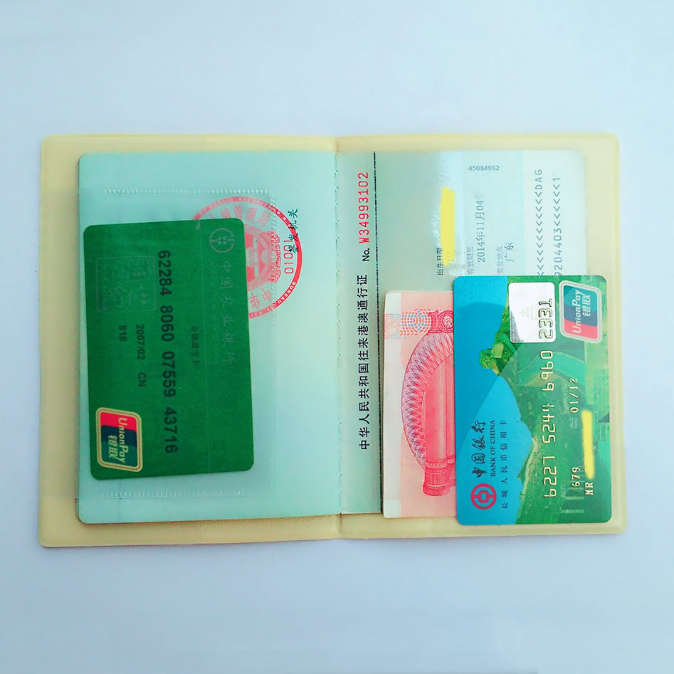 2018 Fashion Yellow Smile Passport Cover ID Card Holder 3D Design ...