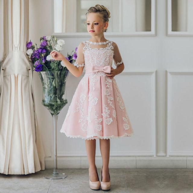 dd1a0a41be Us 895 2017 Linii Kwiat Dziewczyn Dress Na Wesela Pageant Sukienki Dla Dziewczynek  Koronki Matka Córka