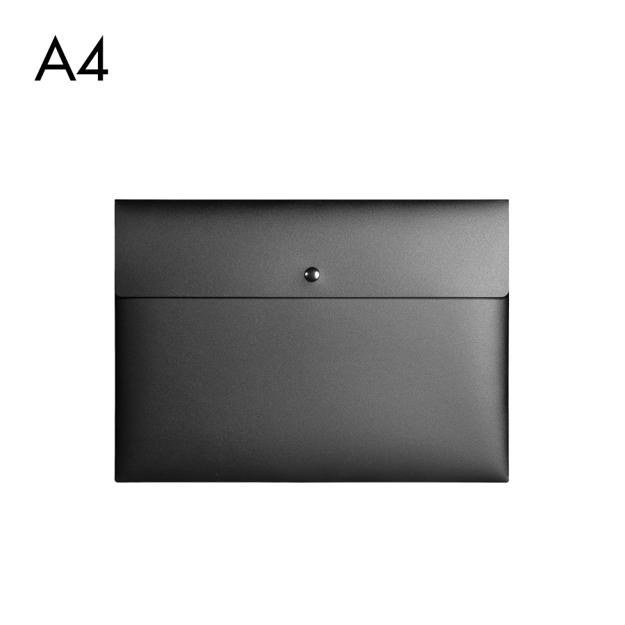 Plastic Briefcase Business-Meeting Portfolio-Bag Document-Bag A4 Snap-On Custom