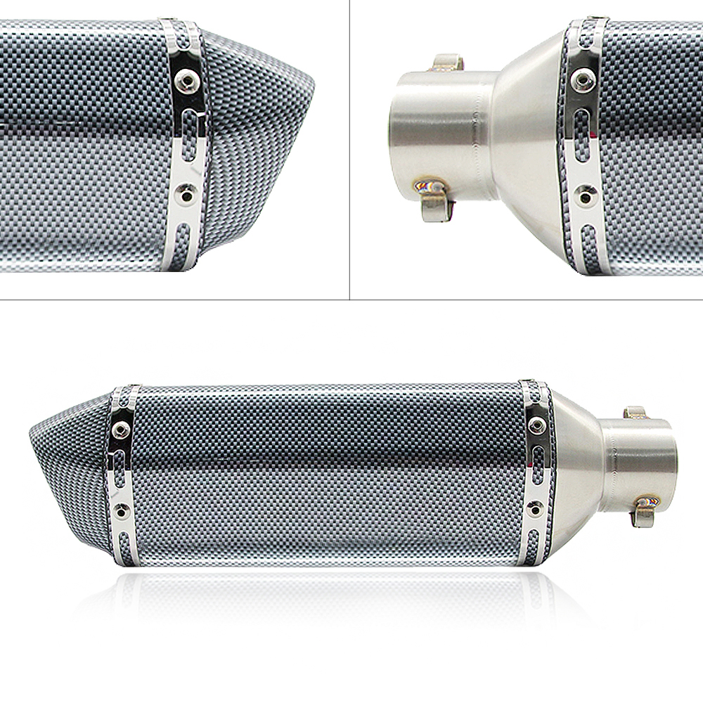 Universal 51mm Motorcycle Exhaust Modified Scooter Exhaust Muffle GY6 for CBR CBR125 CBR250 CB400 CB600 YZF FZ400 Z750 in Exhaust Exhaust Systems from Automobiles Motorcycles
