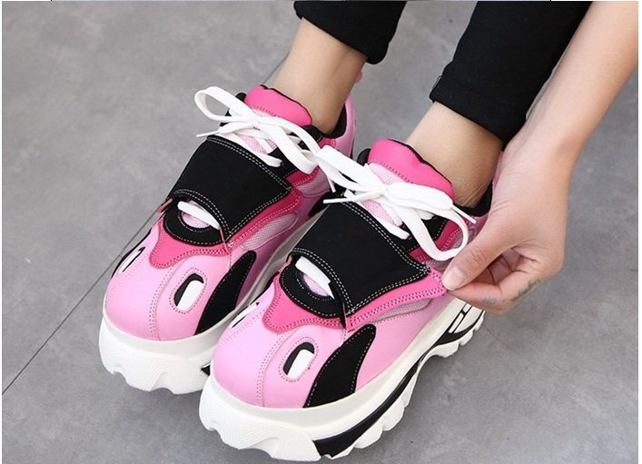 5c76e24a6568 LY2249 Size 35 39 Japanese Harajuku Style Women Retro Trifle Platform  Partchwork Candy Color Big Head Shoes Students Sneakers-in Men s Casual  Shoes from ...